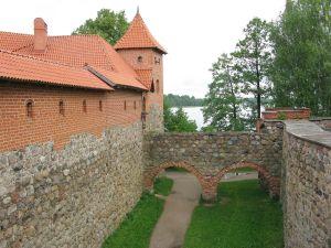Wasserburg Trakai: Burggraben